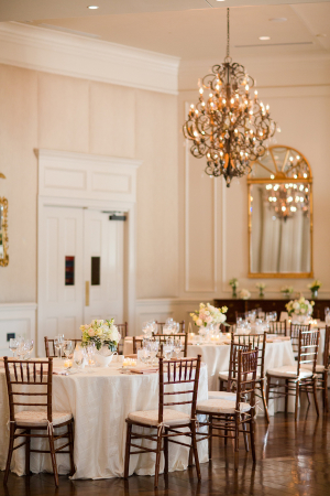 Gold and Pale Pink Country Club Reception