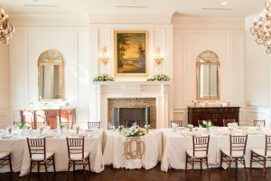 Gold and Pale Pink Reception
