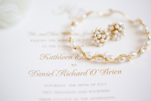Gold and Pearl Bridal Jewelry