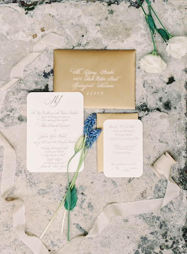 Gold and White Wedding Invitations - Elizabeth Anne Designs: The ...