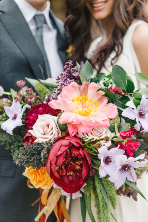 Gorgeous Colorful Fall Bouquet