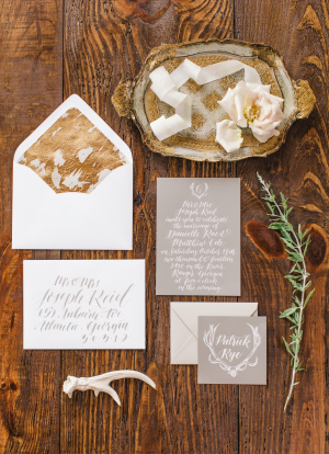 Gray and Gold Modern Stationery