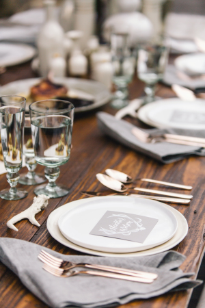 Gray and White Natural Wedding