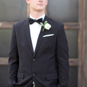 Groom in Perry Ellis Tuxedo
