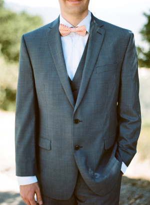 Groom with Peach Tie