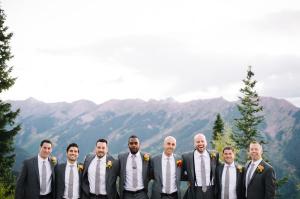 Groomsmen in Colorado Wedding
