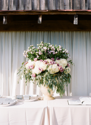 Hydrangea and Greenery Wedding Flowers