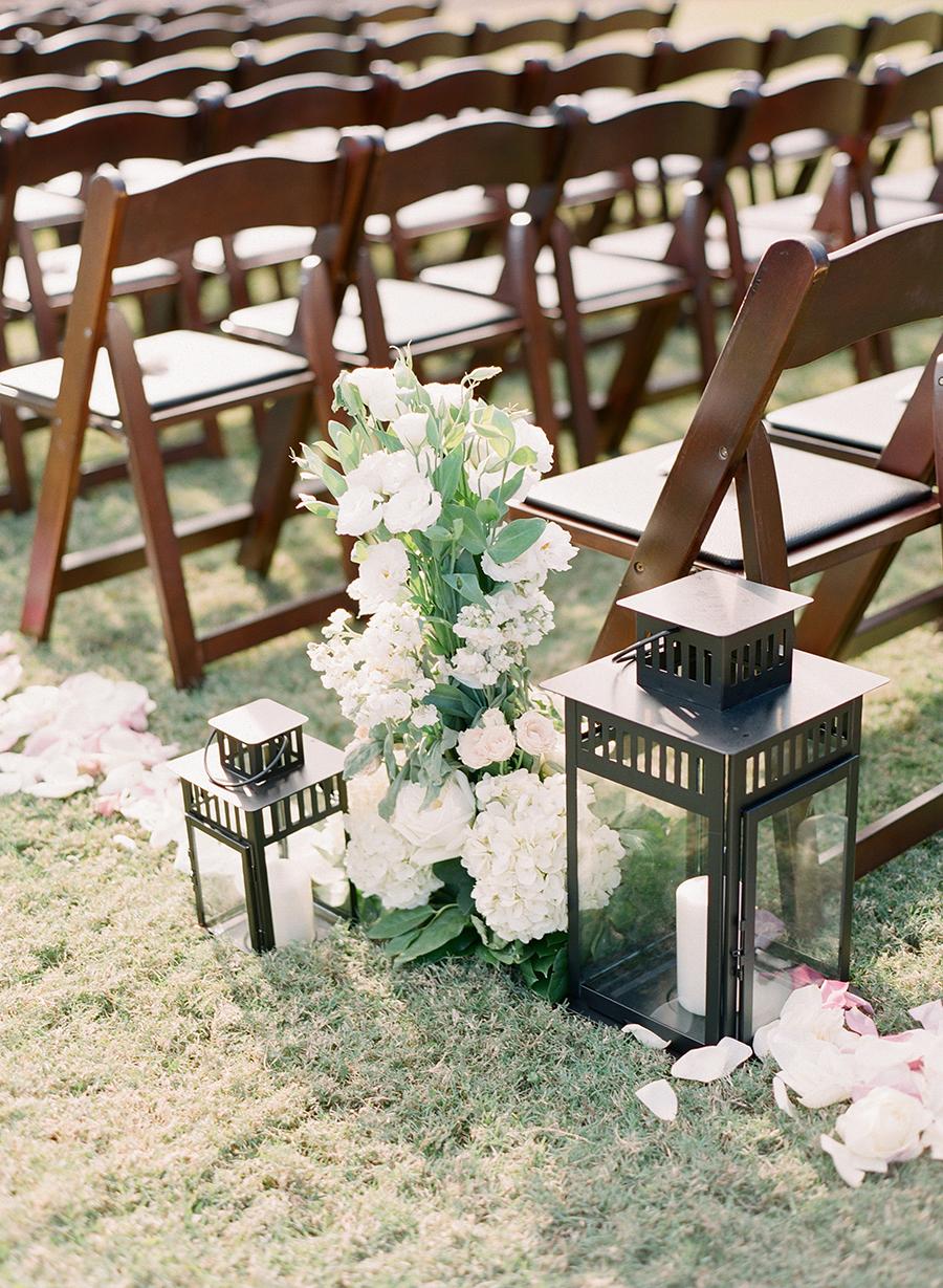 Lantern Aisle Decor Elizabeth Anne Designs The Wedding Blog