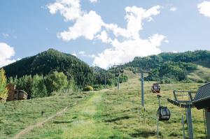 Little Nell Ski Slope in Summer