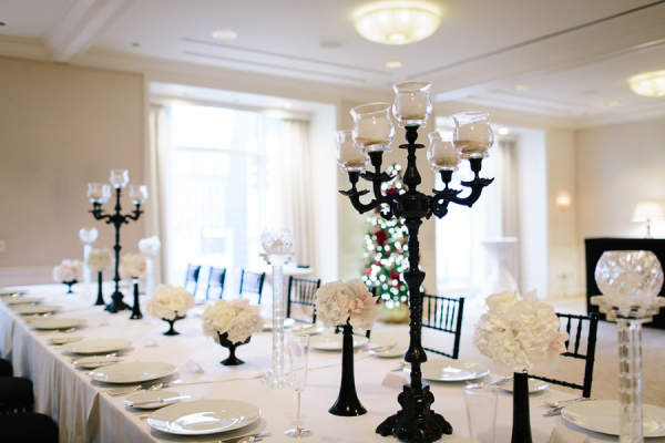 Modern Black and White Centerpiece