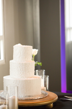 Modern White Simple Wedding Cake