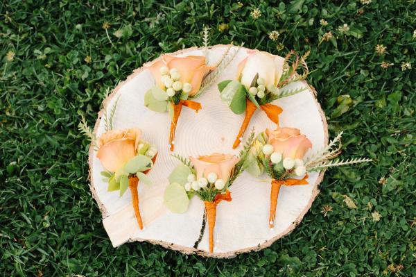 Orange Boutonnieres