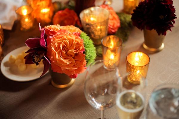 Orange Fall Wedding Flowers
