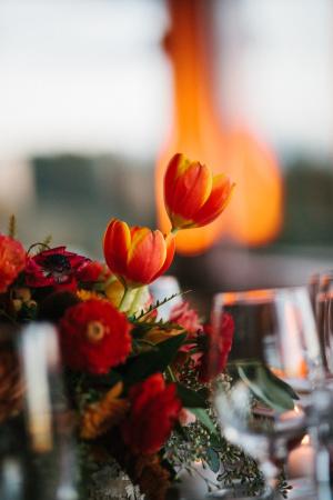 Orange Fall Wedding Flowers1