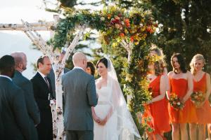Orange and Green Fall Wedding