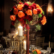 Orange and Red Wedding Flowers
