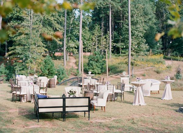 Outdoor Rustic Wedding Lounge Area