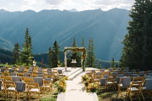 Outdoor Wedding Ceremony in Aspen