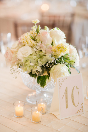 Pink and Cream Centerpiece