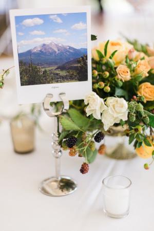 Polaroid Table Photo