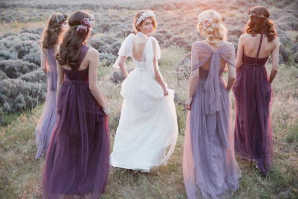 Purple Jenny Yoo Bridesmaids Dresses