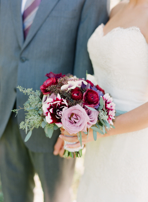 Purple and Burgundy Bouquet
