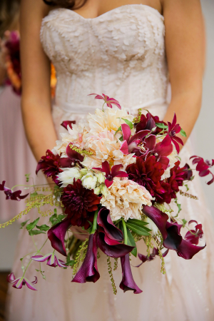 Purple and Burgundy Fall Bouquet