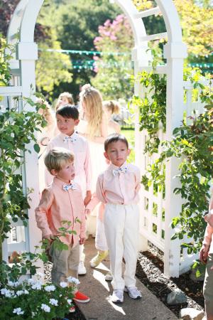 Ring Bearers at Garden Wedding