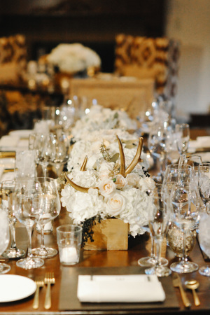 Rustic Ivory and Brown Centerpiece
