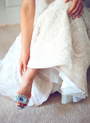 Toile Bridal Shoes