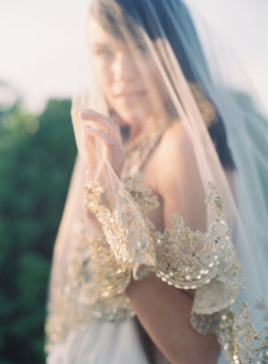 Veil with Gold