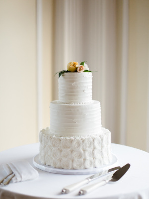 Wedding Cake with Patterned Frosting