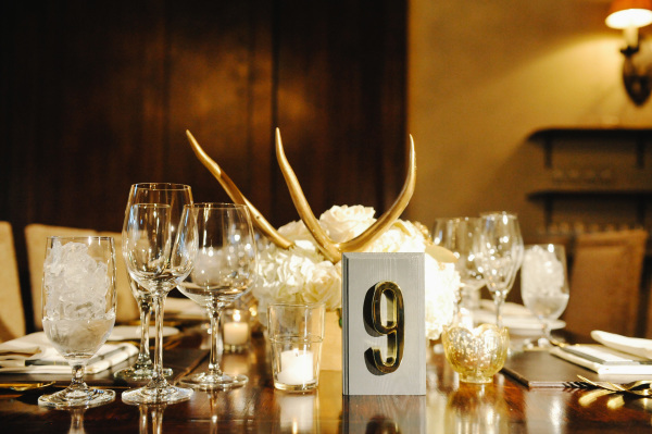 Wedding Centerpiece with Antlers