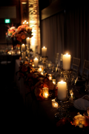 Wedding Centerpiece with Candles