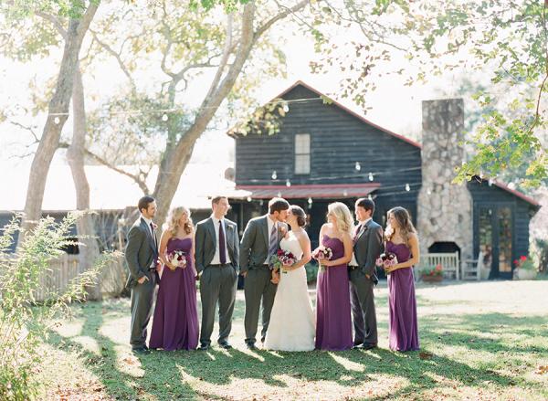Wedding Party in Purple