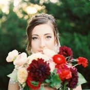 Bouquet with Burgundy and Red