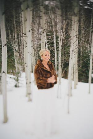 Bride in Faux Fur