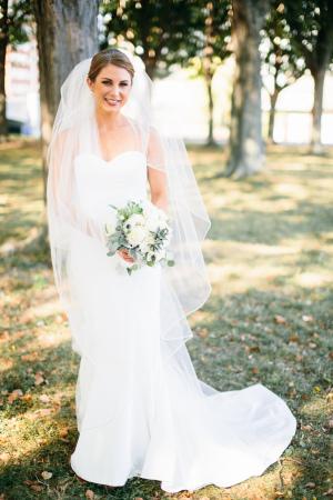 Bride in Nicole Miller