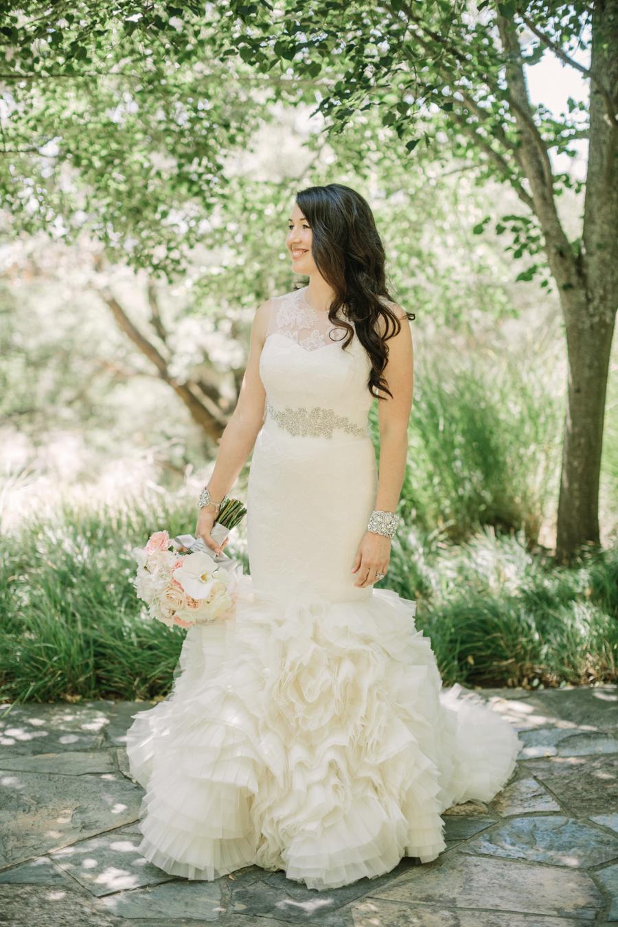 Bride in Vera Wang Gown
