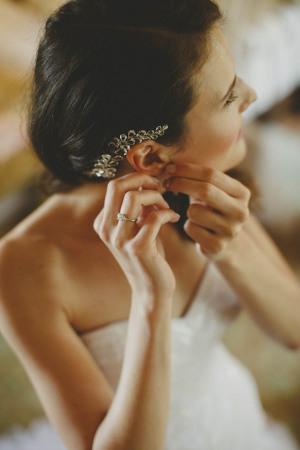 Bride with Silver Hair Clip