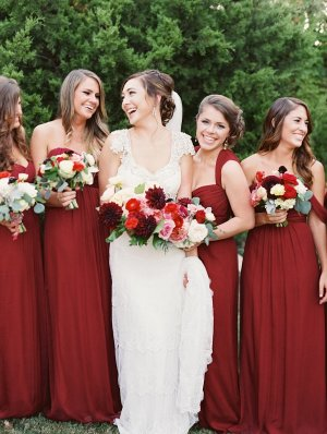 Burgundy Bridesmaids Dresses