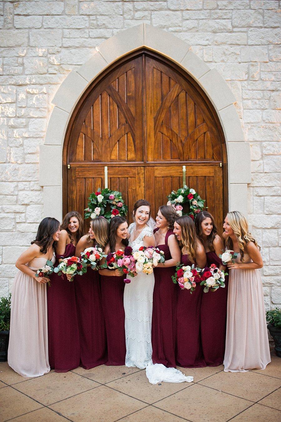 Burgundy And Mauve Bridesmaids Elizabeth Anne Designs