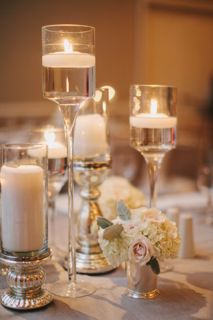 Centerpieces of Floating Candles