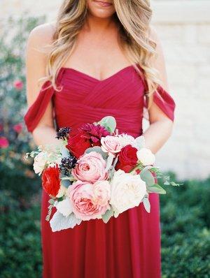 Crimson Bridesmaids Dress