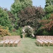 English Garden Wedding Ceremony