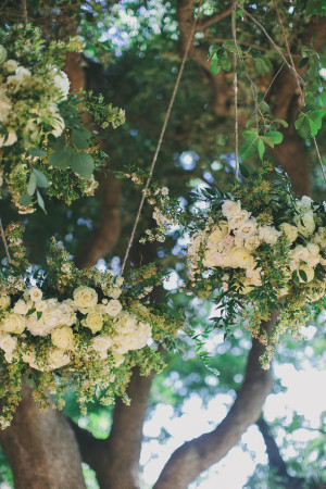 Floral Chandeliers in Tree