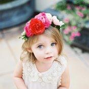 Floral Tiara for Flower Girl