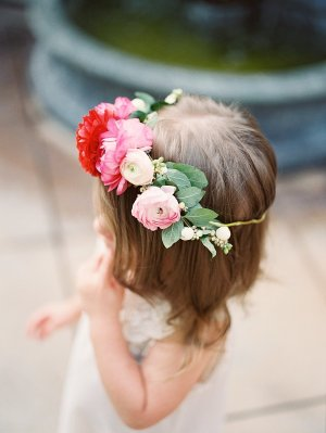 Flower Girl with Floral Tiara