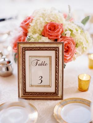 Framed Table Number