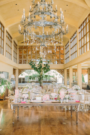 Gold Wedding Reception at Winery